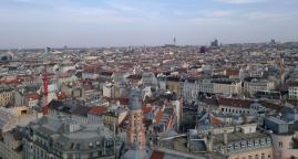 Wien, Blick nach Süden vom Haus des Meeres aus