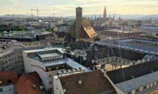 Wien, Blick vom Hochhaus in der Herrengasse